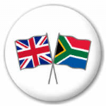 Great Britain and South Africa Friendship Flag 25mm Pin Button Badge
